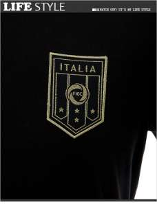 BN PUMA ITALIA Mens Short Sleeve T Shirt Black M XXL