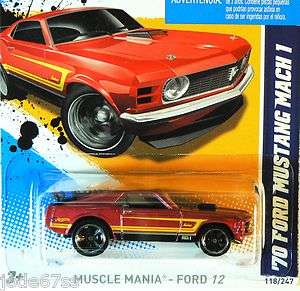 2012 MUSCLE MANIA FORD   70 Ford Mustang Mach 1   RED   k case