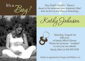 Custom Photo Baby Shower Invitations *Print your own*