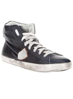 Philippe Model Distressed High Top Trainer   Paleari   farfetch