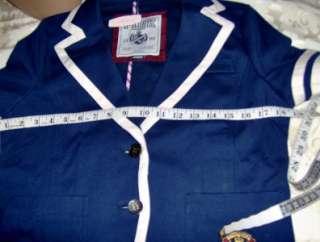 VICTORIAS SECRET PINK NAVY BLUE COAT Sz MEDIUM NWT $58 on Sale