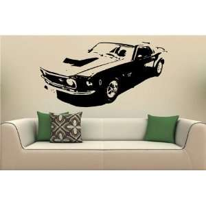 Wall Mural Decal Sticker Car Ford Mustang 1969 S. 2017