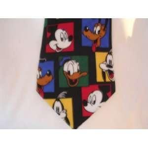 Mens tie ; Disney Mickey Mouse Donald Duck Pluto Goofy