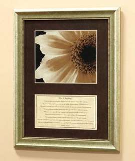 INSPIRATIONAL DO IT ANYWAY MATTED FRAMED WALL HANGING / POEM BY