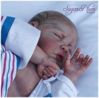 * Reborn Girl Doll ~ Painted Hair ~ Newborn life like baby