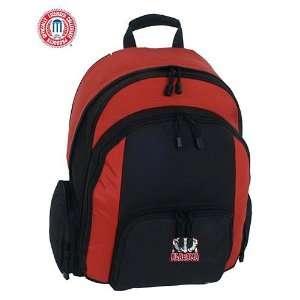 Alabama Crimson Tide Large Red & Black Ripstop Backpack Sports