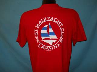 vtg WEST MAUI YACHT CLUB LAHAINA CRAZY SHIRTS t shirt M