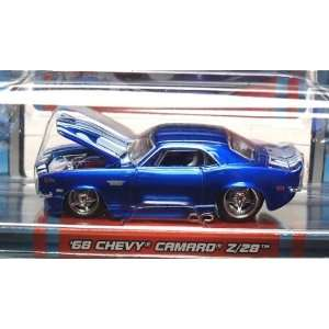 Blue 1968 Chevy Camaro Z/28 164 Scale Die Cast Car Toys & Games