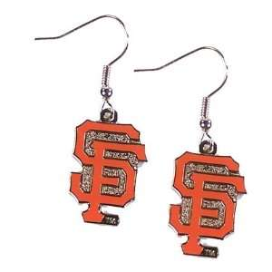 San Francisco Giants   MLB Team Logo Dangler Earrings
