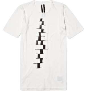 Clothing  T shirts  Crew necks  Geometric Print T