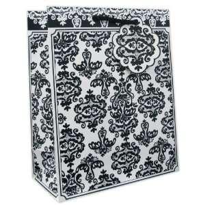 120 Pcs Premium Paper Gift Bags Bulk 12.5 x 10 x 5 (Black