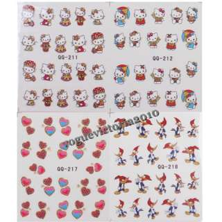 süß Hello Kitty Karton Tattoo Stickers für Nagel Art Dekoration