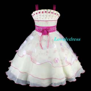 NEW Flower Girl Wedding Pageant Party Dress Outfit Children Wears Sets
