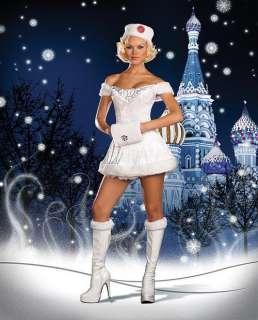 White Russian Beauty Winter Snow Costume 5892 S M L XL