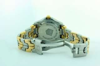 AUTH TAG HEUER MENS LINK TWO TONE 18K GOLD / STAINLESS STEEL WT1150