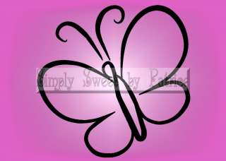 BUTTERFLY Vinyl Wall Saying Lettering Quote Art Decoration Decal Sign