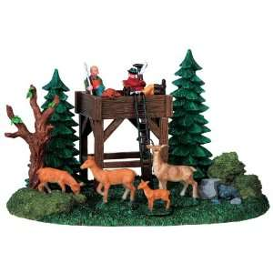 Lemax Caddington Village Deer Blind Table Accent Piece