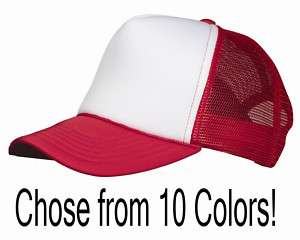Classic Foam Trucker Hat, Mesh Baseball Cap NEW (VC700)