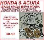 HONDA B6VA BAXA MAXA MDWA TRANS REBUILD KIT W/STEELS (Fits 1999 Honda