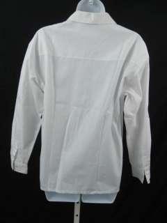 KORS White Zip Front Top Blouse Shirt
