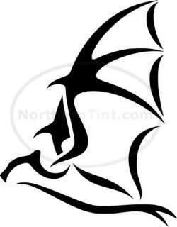 Tribal Bat Car Decal Window Sticker Wall Art #174