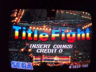 Sega Title Fight double arcade game working