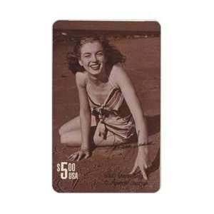 Marilyn Collectible Phone Card $5. Norma Jean Marilyn Monroe Sitting