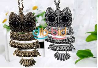 Charming New Lovely Style Retro Night Owl Pendant Necklace #2 Hot