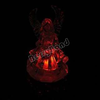 New Desk Colors Changing LED Light Music Angel Crystal Décor for