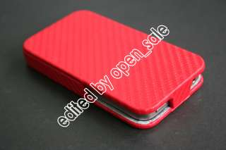 Jnt High Quality Leather Flip Cover Case Pouch for iPhone 4 4S(Clean