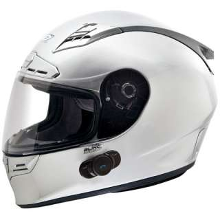 II Bluetooth Communication Street Bike Motorcycle Helmet Silver