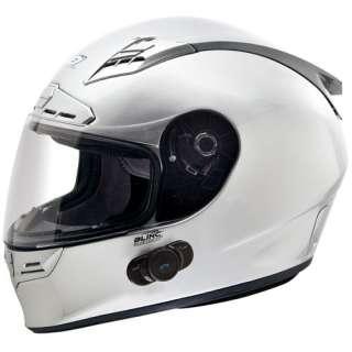 II Bluetooth Communication Street Bike Motorcycle Helmet Silver