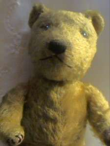 ANTIQUE CHILTERN TEDDY BEAR DOG FACE STRAW FILLED FULLY JOINTED