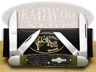 GERMAN BULL Antique Green Bone Congress Pocket Knife Knives