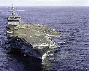 USS ENTERPRISE CVN 65 NAVY SHIP PHOTO PACIFIC 2 4 83