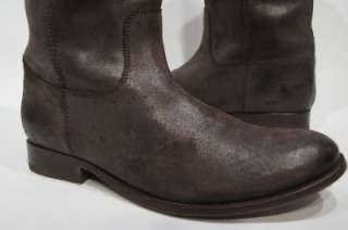 FRYE MELISSA BUTTON KNEE HIGH BROWN DISTRESSED LEATHER RIDING BOOTS 9