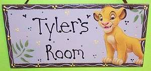 LION KING SIMBA BABY KIDS PERSONALIZED SIGN ROOM NURSERY Crib BEDDING