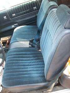 MONTE CARLO FRONT BENCH SEAT 78 88 BLUE MALIBU CAMINO E