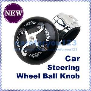 Car Steer Steering Wheel Handle Spinner Knob Ball Black