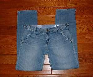 GAP WOMENS BOYFRIEND LOW RISE STRAIGHT LEG STRETCH JEANS SIZE 28/6