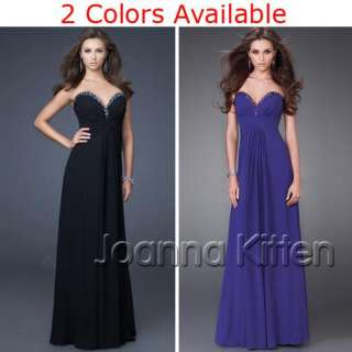 Formal Bridesmaid Prom Ball Evening Cocktail elegant womens ball gown