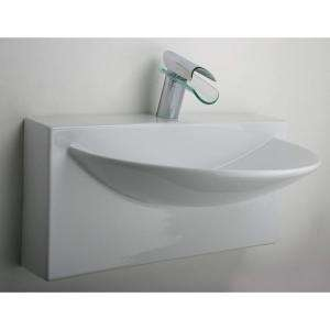 LaToscana Ceramic Single Bowl Wall Mount Sink in White L790 at The