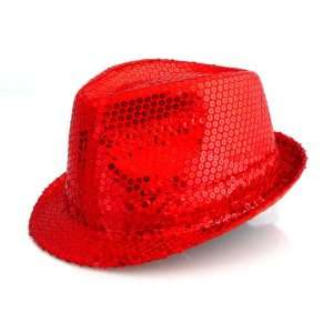 COOLER TRILBY PARTY HUT GLITZER PAILLETTEN ROT  Sport