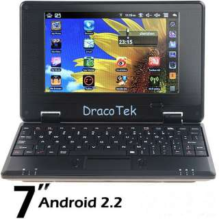 android 2.2 mini netbook laptop VIA 8650 WIFI (black,white,red