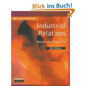 Industrial Relations Theory and Practice  Michael Salamon
