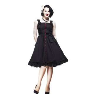 Hell Bunny Kleid GERY 50S POLKADOT DRESS black/red