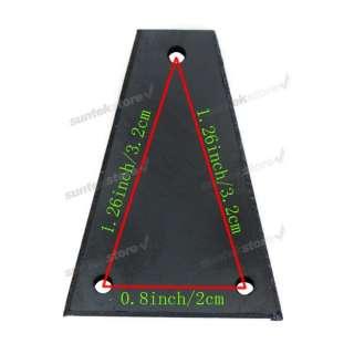 Guitar Bass Parts ~ Truss Rod Cover 3 hole Black PVC