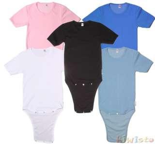 für Erwachsene (adult)   wie Baby Body   Schritt knöpfbar   5 Farben