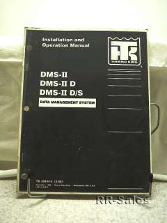 Thermo King Data Management DMS II Installation Manual