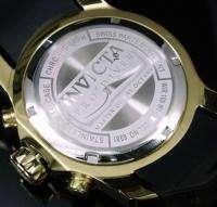 Invicta Mens Pro Diver Scuba Swiss Quartz Chronograph 18K Gold Plated